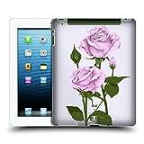 Head Case Designs Pfund Silber Rosen Und Wildblumen Ruckseite Hülle für iPad 3 / iPad 4