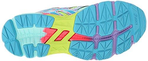 Asics Gel-Noosa Tri 10 GS Maschenweite Laufschuh Flash Yellow/Turquoise/Diva Pink