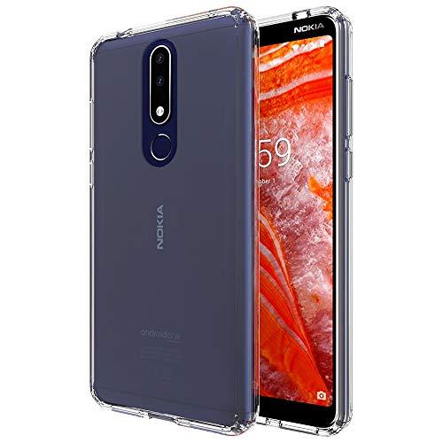 CaseExpert Nokia 3.1 Plus Custodia Cover, Air Hybrid Resistente alle Cadute Armatura Custodia Shockproof Protective Case per Nokia 3.1 Plus/Nokia X3