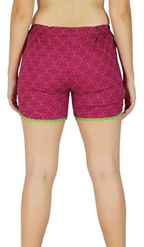 Été Pantalon Porter Des Pantalons Chauds Shorts Impression De Tissu De Coton - Choisissez Votre Taille Rose Et Vert