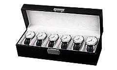Idea Regalo - Amzdeal scatola porta orologi custodia per 6 orologi