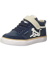 DrunknMunky Boston Vitaminix, Sneaker a Collo Alto Bambina, Blu (Bluepink), 29 EU