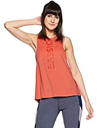 Just F by Jacqueline Fernandez Women's Plain Loose Fit Vest Top