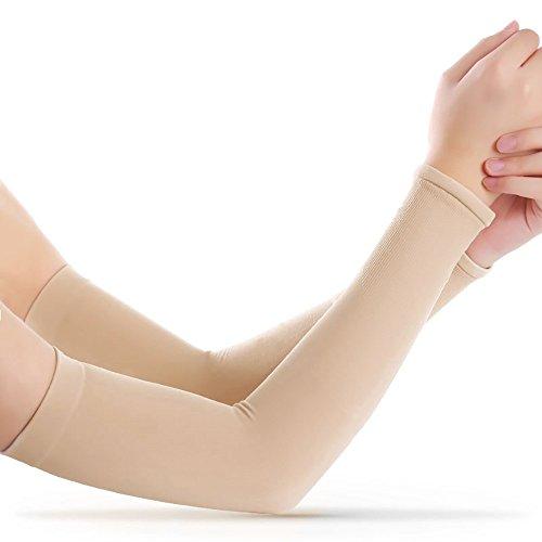 Armstulpen mit Daumenloch, lang, Ice-Silk-Material, Armschutz für