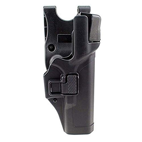 Gexgune Tactical Militärische Verschleierung Stufe 3 Sperren Rechte Hand Taille Gürtel Pistole Pistolenhalfter für Glock 17/19/22/23/31/32 (Schwarz) -
