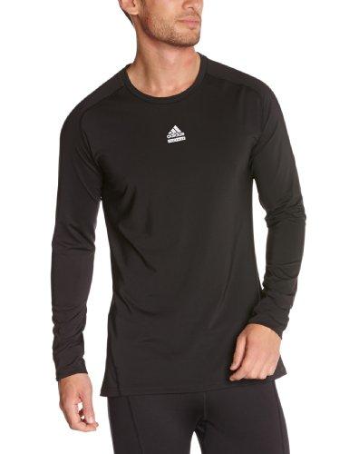 Adidas Techfit C & S Herren Langarm Baselayer Top XXL schwarz - schwarz (Adidas Long T-shirt Sleeve Schwarzes)