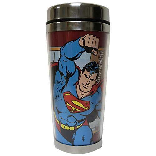 Westland Giftware Stainless Steel and Acrylic Travel Mug, Superman, 16 oz., Multicolor by Westland Giftware