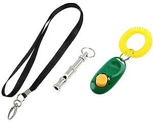 Petastical Chien et Chiot Obéissance kit d'entraînement | Clicker, sifflet et lanière | Dog Clicker et chien Sifflet Combo