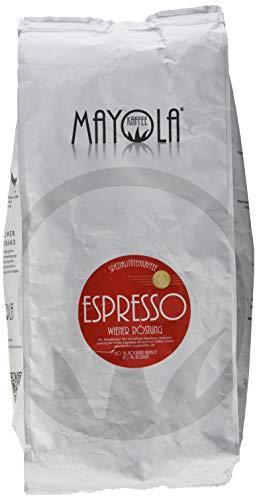 Barista Spezialitäten Kaffee Mayola Espresso Wiener Röstung 2 in 1 ganze geröstete Bohnen für Kaffeevollautomat 1 kg