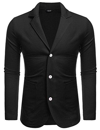 COOFANDY Mens Slim Fit Classic Suit Notched Lapel Casual Blazer Jacket