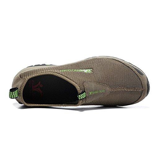 Xiang Guan Homme Mesh Respirant Sport Outdoor Slippers Loafers Chaussures de Trekking Walking Camping Randonnée Kaki