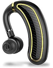 Xmate Edge Bluetooth Headset, Mono Headphone with 25 Hours Talk Time, Bluetooth 5.0 Earphone, IPX5 Waterproof, Wireless Earbuds with Inbuilt Mic (Black)