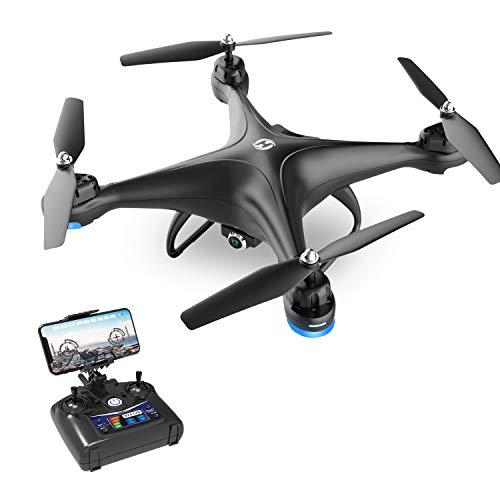 Holy Stone HS110D Drone con Cámara FPV 1080P HD Vídeo a Tiempo Real-Quadcopter de Gran Angular 120º WiFi con Retención de Altitud Modo sin Cabeza 3D Flips -Dron RC RTF con Batería Modular-Negro