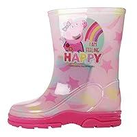 WILLIAM LAMB Peppa Pig Girls Ecuador Slip On Wellington Boots UK Sizes Child 5-10