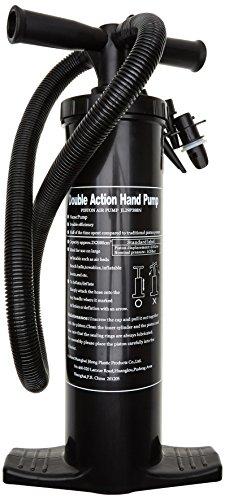 Blueborn HDP 2 Liter Doppelhubpumpe Luftpumpe Handpumpe Pumpe mit Schlauch 3 Adapter Luftdüsen Aufsätze für aufbalsbare Artikel wie Luftmatratze Luftbett Pool etc