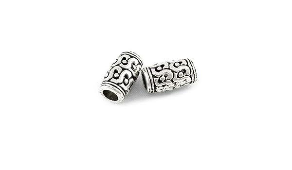 Paquet 30 x Argent Antique Tibétain 7mm Intercalaires Bicône Perles HA15830