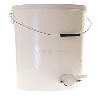 Simon 15L Wire Handle Honey Settling Tank with Valve 1