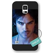onelee (TM)–El Vampire Diaries Ian Somerhalder Negro Esmerilado–Funda para Samsung Galaxy S5Funda protectora & Negro 8