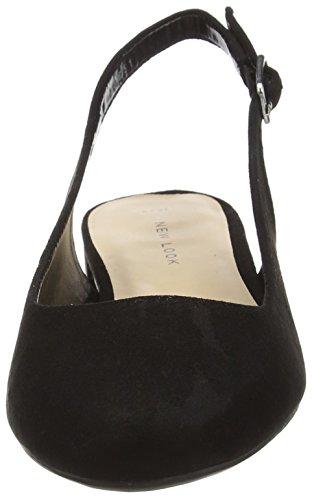 New Look - Lesigner, Decolleté aperte sul retro con tacco Donna Nero (Black (01/Black))