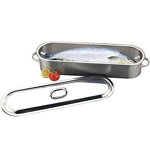 Sunnex 60cm Stainless Steel Dishwasher Safe Fish Kettle with Rack Holder