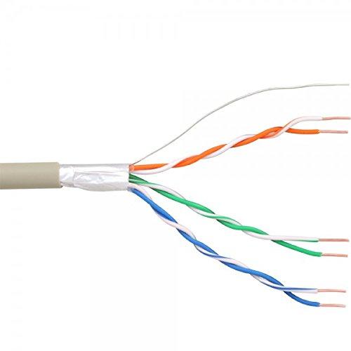 InLine 69976C Verlegen Telefon-Kabel 6-adrig 3 x 2 x 0,6mm 25m Ring