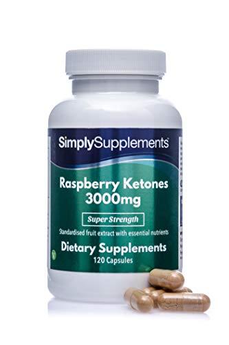 Chetoni di lampone 3000 mg - 120 Capsule - Adatto ai vegani - 4 mesi di trattamento - SimplySupplements