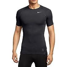 Nike - Maglietta di compressione a maniche corte Uomo - Nero (Nero/ Grigio Foncé/bianco), S