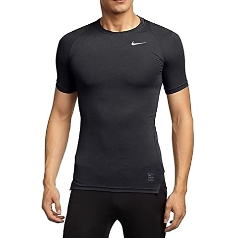 Nike Pro Cool Maillot manches courtes Homme Noir/Blanc FR : S (Taille Fabricant : S)