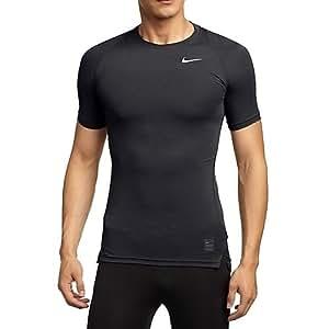 Nike Maglietta di compressione a maniche corte Uomo - Nero (Nero/Grigio Foncé/bianco), S