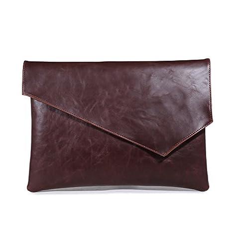 gossipboy PU Leder Vintage A4Datei Ordner Pocket Dokumententasche Umschlagtasche Papier Dateien Record Tasche Busniess Handtasche Kanzleipapier Aufbewahrung