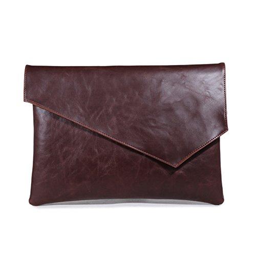 gossipboy Vintage de piel sintética bolso de mano bolsa de archivos d