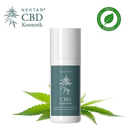 Nektar CBD Tagescreme Anti Aging für Mischhaut mit Schutz für den gesamten Tag, hilft bei trockener, sensibler & empfindlicher Haut, hat beruhigende und straffende Wirkung - Naturkosmetik pH-neutral