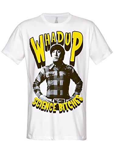 Officially Licensed Merchandise TBBT Whadup Science Bitches T-Shirt (White), XX-Large