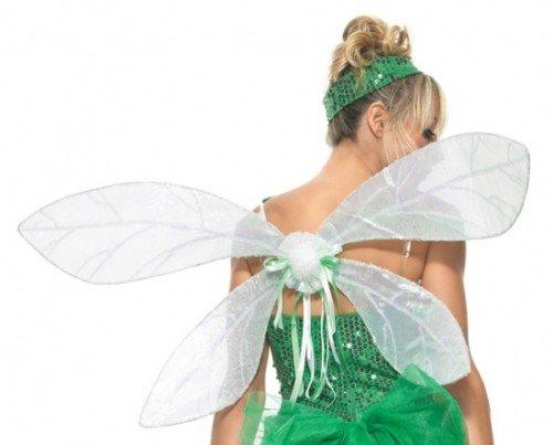 Fee Kostüm Avenue Leg - Leg Avenue 2069 - Schillernde Elf Flügel, Einheitsgröße, Damen Karneval Kostüm Fasching