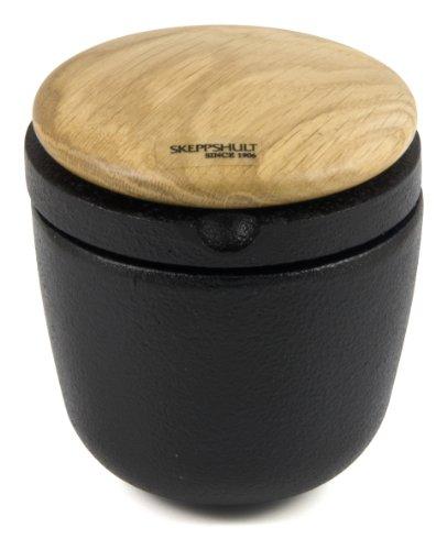 Skeppshult SWING OAK - Molinillo de pimienta y especias de hierro fundido con tapa de madera de roble