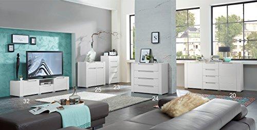 Paul DOWWA61024 Kommode, Holz, weiß, 41 x 100 x 87 cm - 4