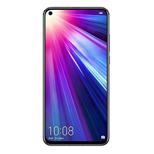 Honor View 20, Smartphone débloqué, 4G, (6,4 pouces, 6Go RAM, 128Go ROM, Double Nano SIM, Android P) Noir - [Version française]