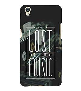 FUSON Lost In The Music 3D Hard Polycarbonate Designer Back Case Cover for Oppo F1 Plus :: Oppo R9