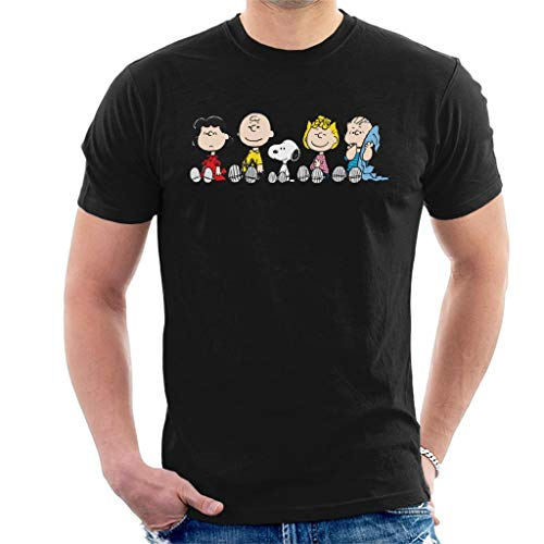 Peanuts The Gang Sit Down Men's T-Shirt (Linus Sally Und)