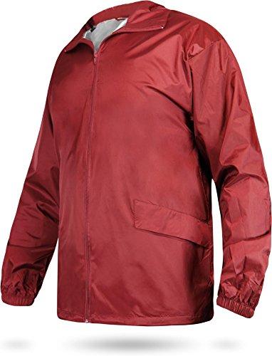 Leichte Windjacke / Regenjacke im Beutel, Unisex - Erwachsene Red