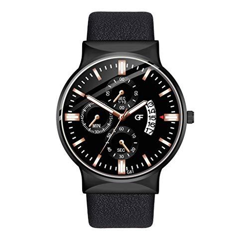 Yivise Reloj de Pulsera de Negocios de Moda para Hombres Dial de Acero Inoxidable Relojes de Cuarzo...