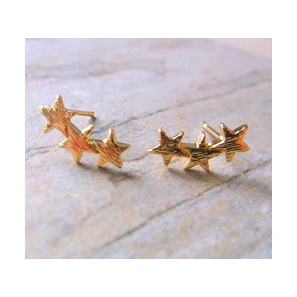 Gold Plate Star Stud Earrings, Gold Starburst Stud Earrings 41vtJ8qnJtL