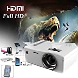 SLB Works Brand New 400 Lumens HD 1080P Home Theater Projector HD LED Portable SD HDMI AV USB New