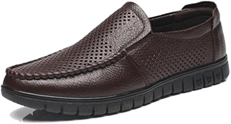 CJC Lederschuhe Atmungsaktiv Leder Sandalen Lässig Sommer Farbe : Brown  Größe : EU43/UK9