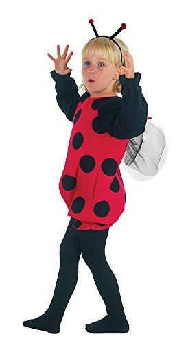 5Marienkäfer Kleinkinder Kostüm, schwarz, XS (Halloween-kostüme Für Mädchen Kleinkind)