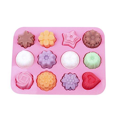 Blumen Eiswürfelbehälter Einfrieren Geleekuchen Pudding Schokoladenform Maker-Tool