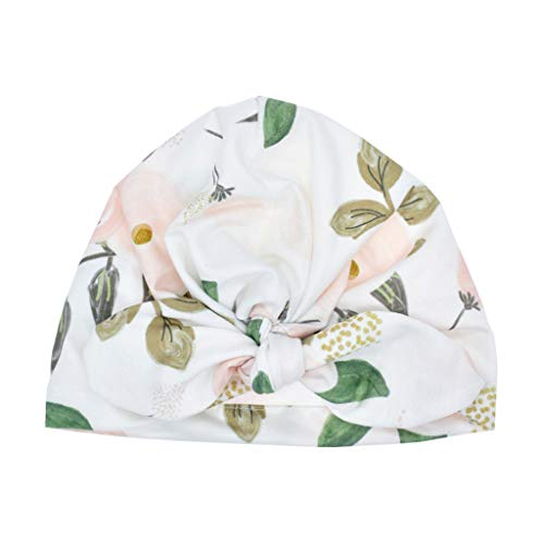 Lazzboy Baby Boy Girl Sun Hat Floral Bowknot Cap Toddler Turban Photo Props Mütze Neugeborene Weich Baumwolle Kleinkind Stirnbänder Mädchen Stirnband(C) (Piraten-kostüm Baby Girl)