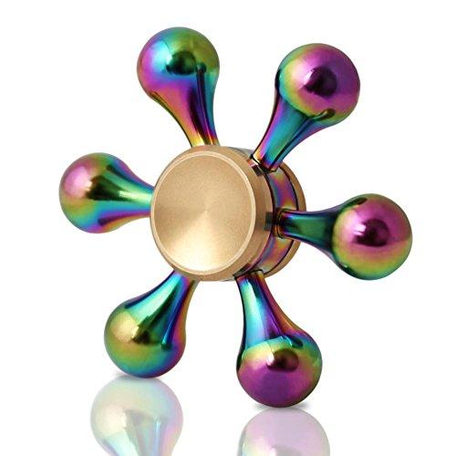 Fidget-SpinnerZOTO-Tri-Hand-Finger-Spinner-ToySpinner-Mano-Juguete-Alivia-el-Estrs-y-la-Ansiedad-y-Relajarse-Tri-Fidget-Hand-Spinner-Toy-Perfecto-para-Nios-y-Adultos