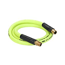 Flexzilla Swivel Whip Air Hose, 12 In. X 6 Ft. (12 In. Mnpt Swivel X 12 In. Mnpt Ends), Heavy Duty, Lightweight, Hybrid, Zillagreen - Hfz1206yw4s
