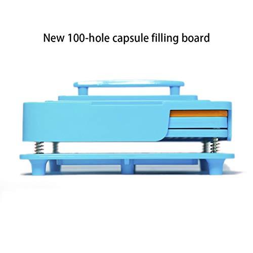Banbie Capsule Filler Plate 100 Lochgröße 0 Kapsel Kapselfüllung Manuelle Massenbefüllung -